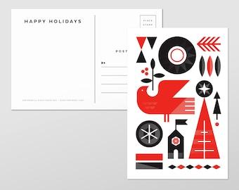 Holiday Bird Postcards