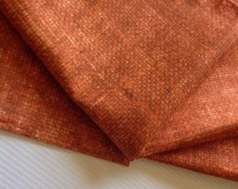 Cloth Napkins - Faux Burlap - Persimmon - 100% Cotton  (As seen in Victoria Magazine)