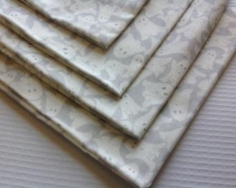 Cloth Napkins - Gray Ghosts - 100% Cotton