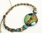 Shaman Talisman Bracelet with African Brass beads