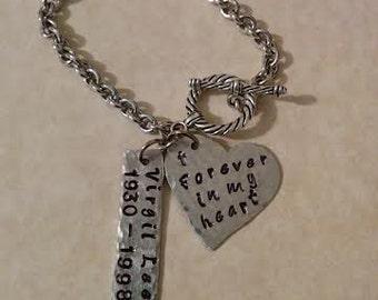 Forever in my Heart Remembrance Bracelet
