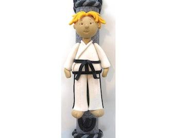 Taekwondo Polymer Clay Mezuzah
