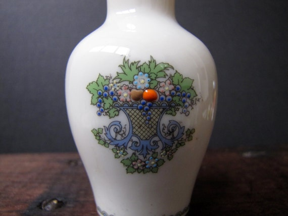 Flower Baskets Usa : Vintage lenox bud vase autumn pattern inch