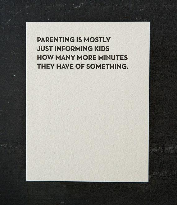 minutes. letterpress card. #121
