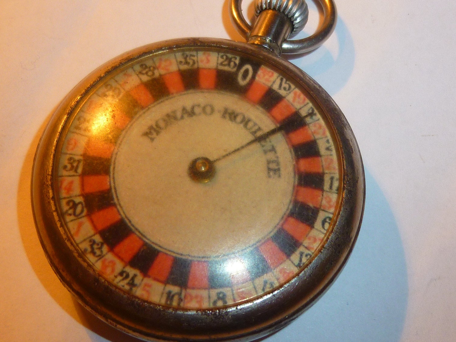 vintage monaco roulette wheel pocket watch game. Black Bedroom Furniture Sets. Home Design Ideas