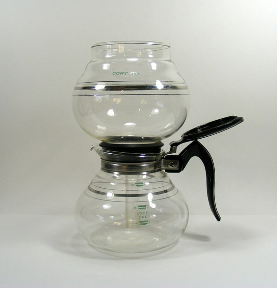 Vacuum Coffee Maker Instructions : Cory Vacuum Coffee Pot 8 cup vintage coffee maker