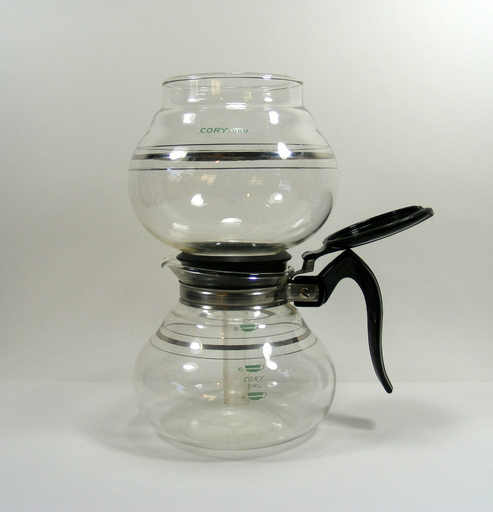 Vacuum Coffee Maker Single Cup : Cory Vacuum Coffee Pot 8 cup vintage coffee maker