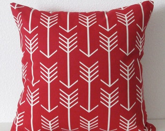 Pillow Cover - Red - Arrow - Apache - Tribal - Cushion Cover