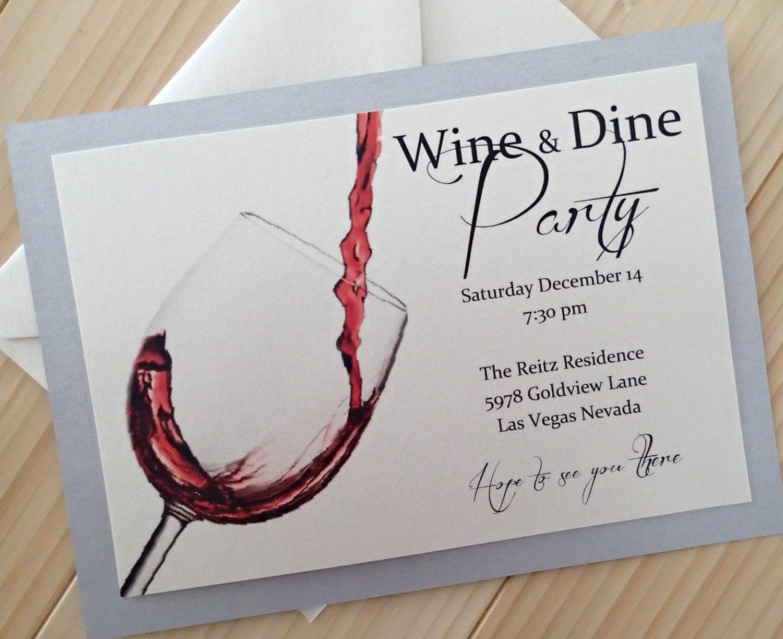 martini invitation party invitation bachelorette invitation wine and dine party invitation