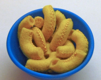 Wool Felt Play Food - Macaroni and Cheese Play Food