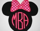 Minnie Mouse Monogram Shirt, Custom Minnie Shirt, Minnie Vacation Shirt, Embroidered Minnie Shirt, Personalized Minnie, Minnie Mouse Shirt
