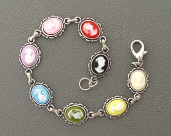 A rainbow of petite cameos for your wrist!