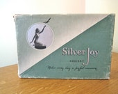 CC41 1940s nylon stockings 2 pairs in original packaging! Beautiful box size 9 Silver Joy