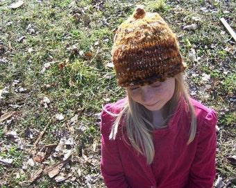Warm Wooly Mountain Hat - Earth Tone Orange