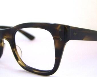 1960s Mens Eyeglasses // 60s Vintage Frames // Dark Tortoiseshell // Model: Bausch and Lomb