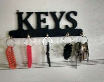 KEYS style Key Rack / Jewelery Organizer  Wall Key Rack C
