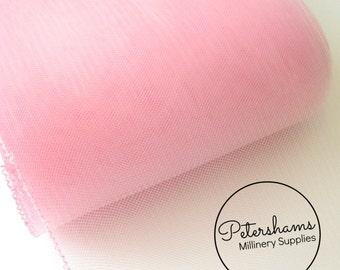 6 Inch (15cm) Wide Crinoline (Crin, Horsehair Braid) for Hats, Millinery, and Fascinators - Light Pink