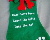 WOOF! WOOF! Green Dogs Stocking