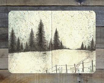 "Winter Scene - 5""-7"" Giclée Print"