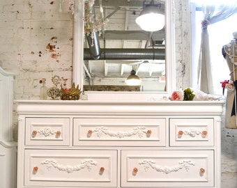French Dresser Painted Cottage Chic Shabby Romantic French Chest LGDR12