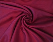 Silk Dupioni Fabric - Deep Red - By the Yard