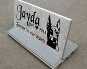 "Doberman Memorial plaque. Maintenance Free 12""x6""x3/8"" ""Jayda"" Design- Price includes shipping and"