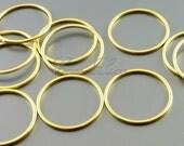 4 plain 20mm circle pendants, modern round connectors, jewelry findings supplies, hoop pendants 997-MG-20 (matte gold, 20mm, 4 pieces)