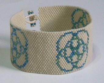 Five Circles Bracelet Pattern - Peyote Pattern - Beading Pattern