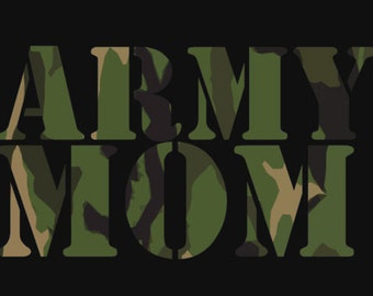 Army Mom Design Customize to All Sizes and Colors - TShirt , Vneck, Tank Top