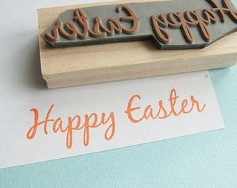 Large Happy Easter Sentiment Rubber Stamp - Easter stamp - Easter Card - Easter Rubber Stamp - Easter Craft - Easter Card - Easter Gift