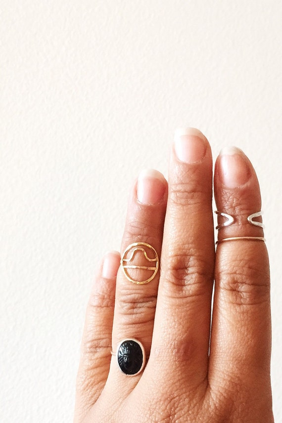 Gold Zodiac Midi Ring