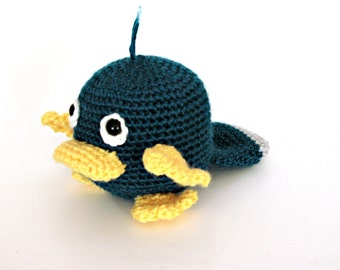 Gus- the baby platypus crochet pattern instructions.