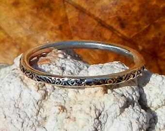 Sterling Silver Textured Stackable Ring