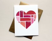 Valentine Color Swatch Heart: Individual Card