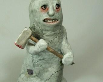 Ghost Horror Art Sculpture