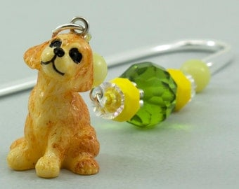 Puppy Dog Bookmark, Puppy Charm Shepherds Hook Metal Bookmark for Books, Stocking Stuffer Ideas for Book Lover, Dog Lovers Gift, Book Charms