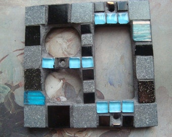 MOSAIC Light  SWITCH and OUTLET Cover - Gray, Black, Turquoise