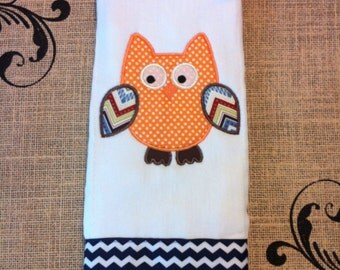 Owl Burp Cloth - Applique