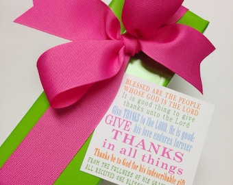 Give thanks gift tags