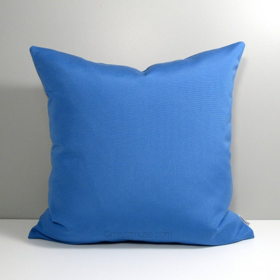 Sky Blue Decorative Pillows : Sky Blue Outdoor Pillow Cover Decorative Blue Throw by Mazizmuse