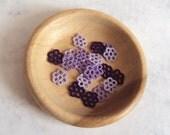 20 Mini Flower Applique , Handmade in Tatting - Purple Shades