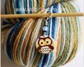 Yellow Whimsical Owl Stitch Marker (Qty 1)