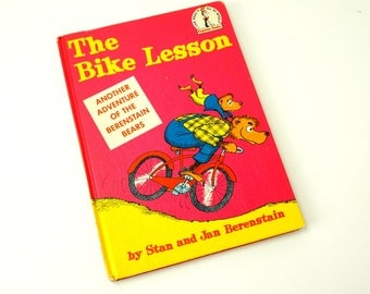 The Bike Lesson by Stan and Jan Berenstain 1964 Hc / Vintage Dr. Seuss I Can Read It All By Myself Beginner Childrens Book