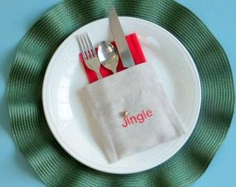 christmas silverware flatware holders
