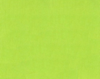 Everyday ORGANIC Solids Solid Cotton Fabric Clothworks 18 Lime Green Apple Green