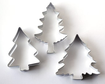 Pine Tree Cookie Cutters (Set of 3), Christmas Cookie Cutters, Pine Cookie Cutters, Forest Cookie Cutters
