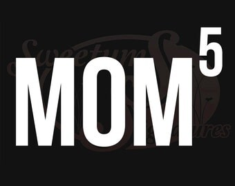 Mom x 5 - Vehicle Decal