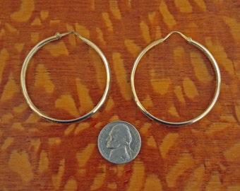 14k Hoop Earrings Bold Vintage