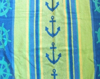 Nautical Themed Vintage Beach Towel