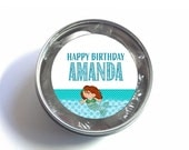 """1"""", 1.5"""" or 2"""" Stickers, Labels for Favor Bags, Mermaid Theme, Birthday, Under the Sea Party"""